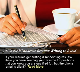 10 Classic mistakes in Resume writing to avoid